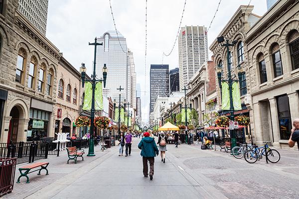 Calgary Interesting Sights Stephen Ave Walk
