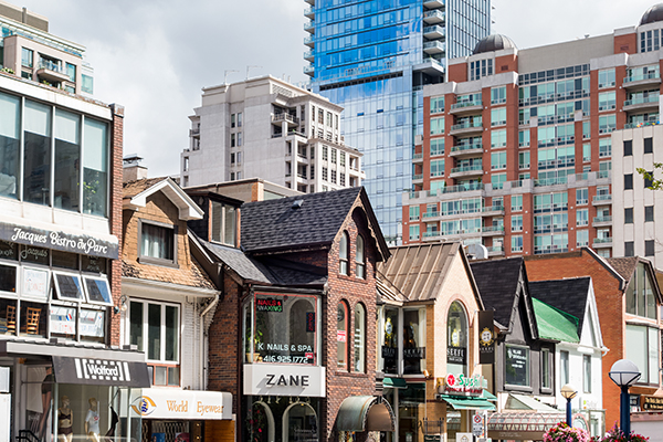 Toronto Yorkville Shops and Apartments for Rent near The Annex
