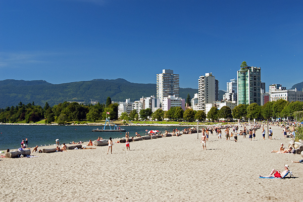 Downtown Vancouver West End English Bay Beach