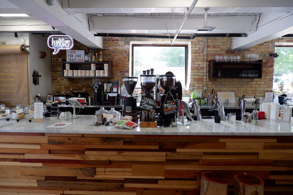 Residents of the neighbourhood can get their coffee and their dry cleaning at Creeds Coffee Bar.