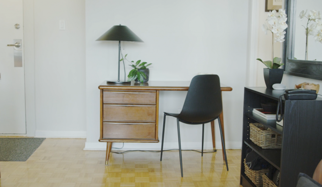 Chair and Desk are Statement Pieces in Your Rental Apartment