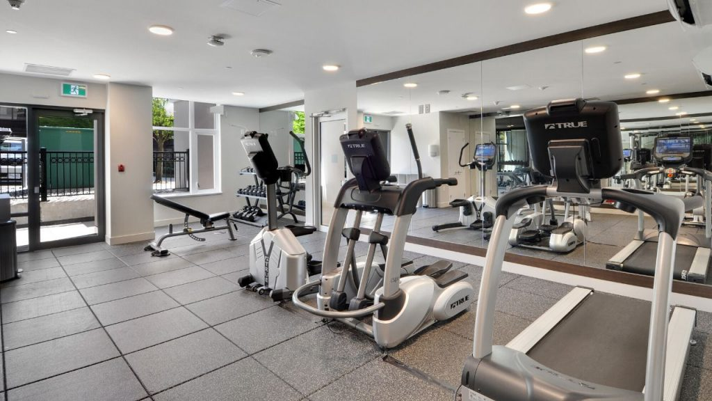Rental Apartment Building Gym North Vancovuer