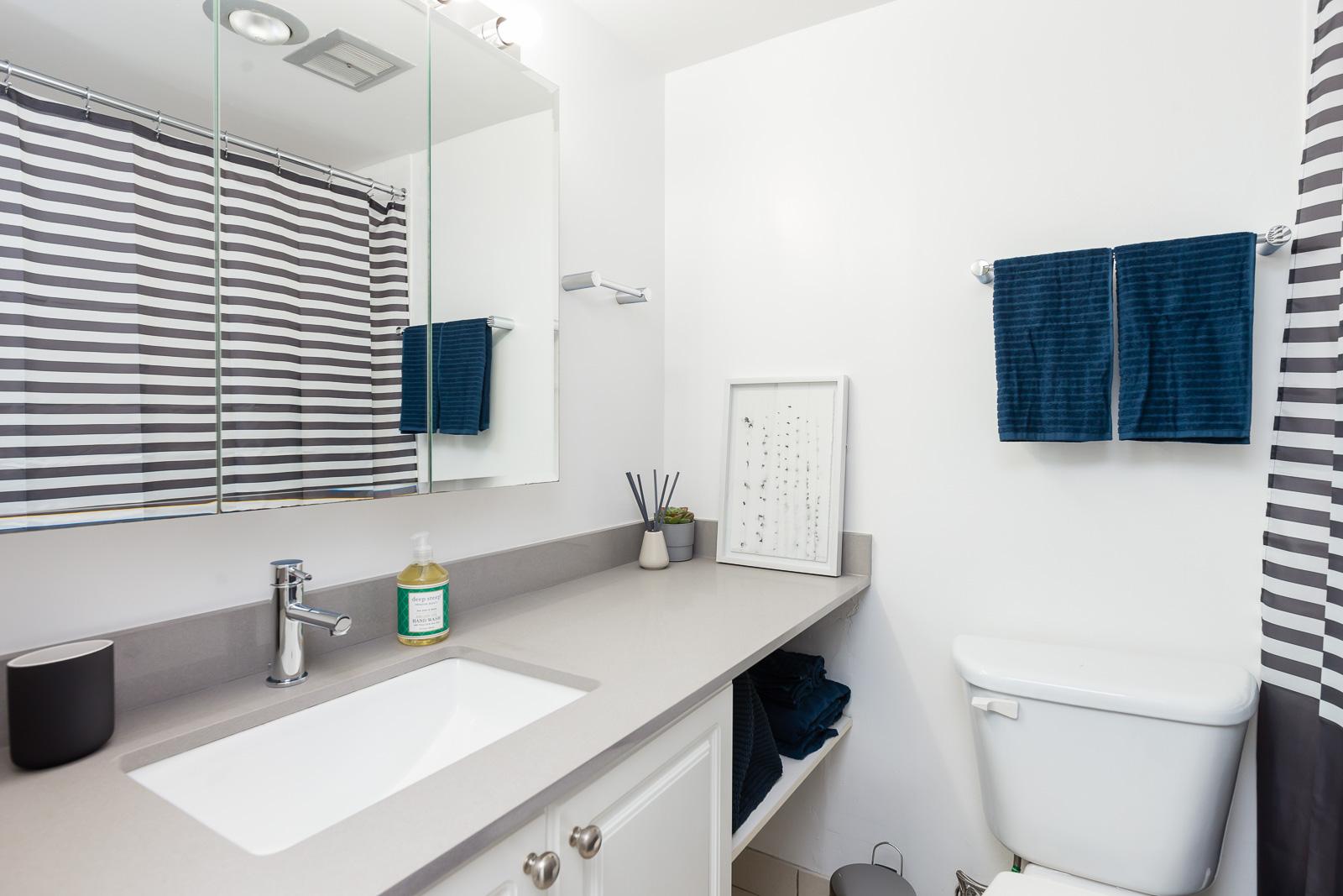 Hollyburn Harbourview 1Bedroom Furnished Rental bathroom 604