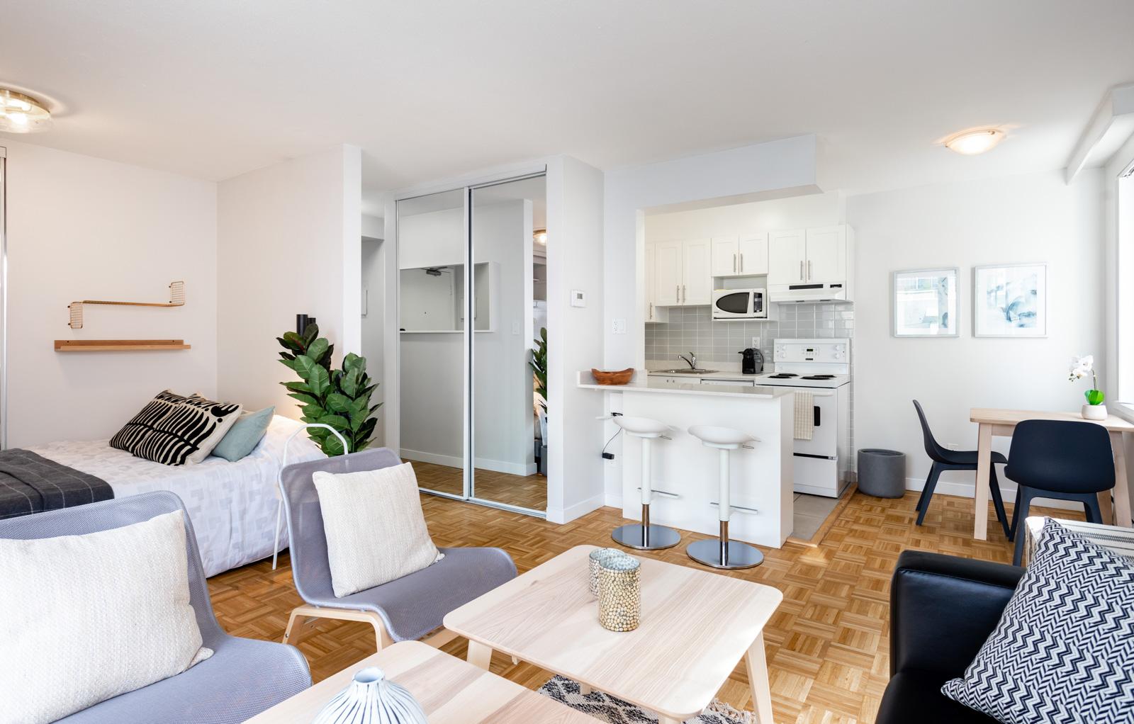 Hollyburn Somerset studio Furnished Rental living room 7 307
